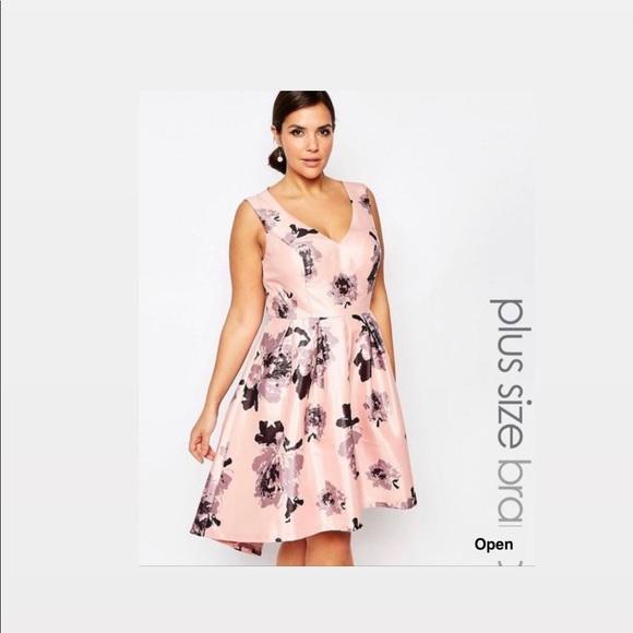 best sell best deals on best authentic Plus Size Chi Chi London High/Low Floral Formal